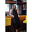 Lullah Halter Dress In Black Shimmer image