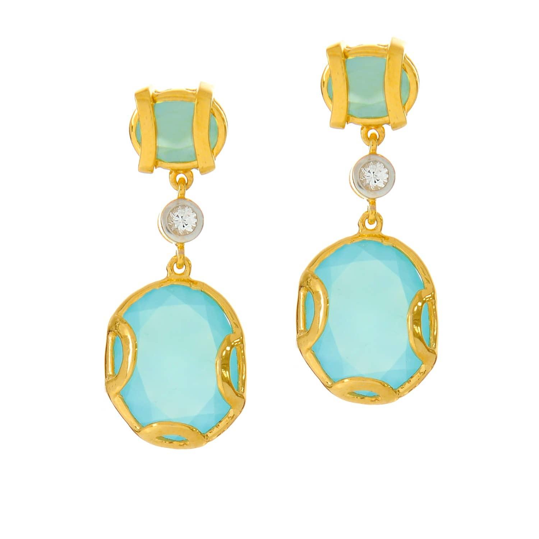 51a4425e3 Madison Blue Chalcedony Earrings | Alexandra Alberta | Wolf & Badger