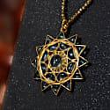 Lakshmi Aquamarine Diamond Pendant image
