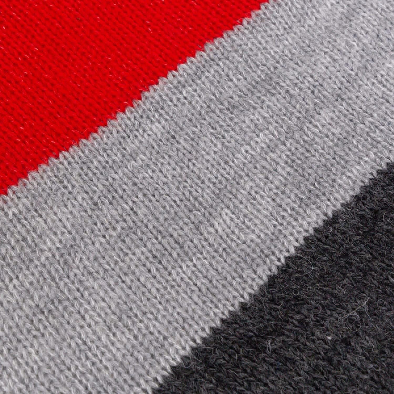 Cuddly Long Striped Cardigan Red Grey by You by Tokarska