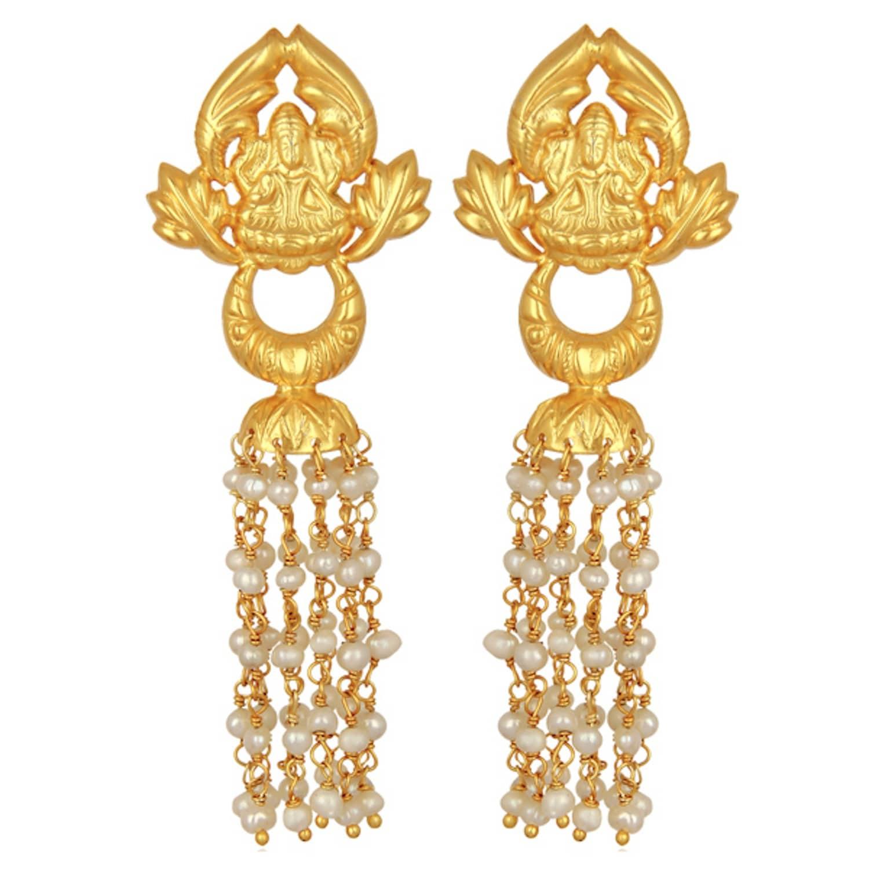 Ornate gold pearl chandelier earrings carousel jewels wolf ornate gold pearl chandelier earrings image aloadofball Gallery