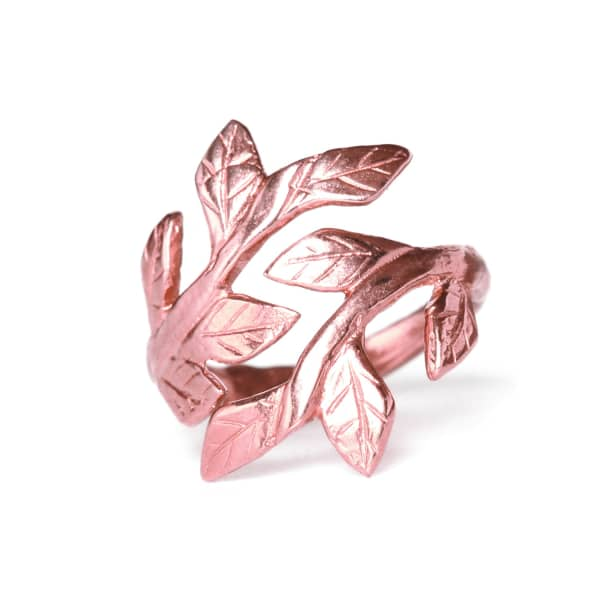 CHUPI Wrap Your Laurels Around Me Ring In Rose Gold