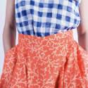Coral Pleated Midi Skirt image