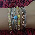 Turquoise Handwoven Bracelet image