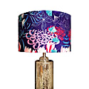 Midnight Florals Lampshade In Shimmer Velvet (40cm) image