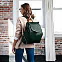The Professional Leather Backpack Purse In Emerald image