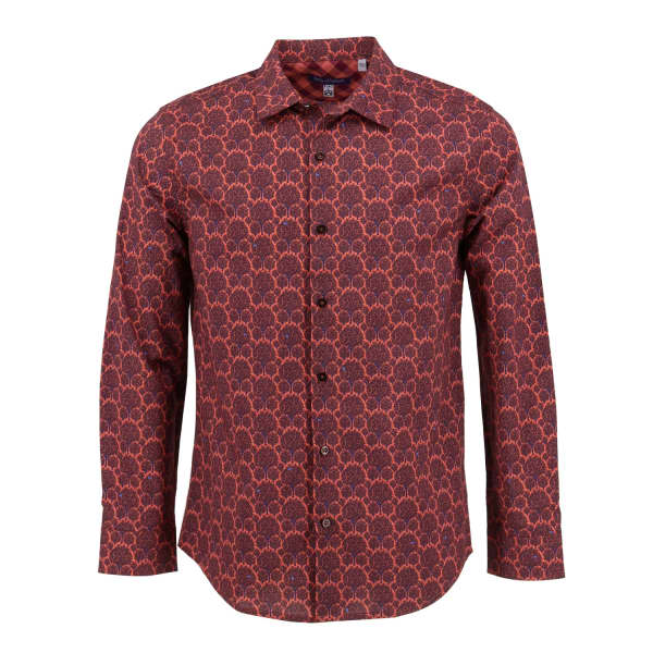 LORDS OF HARLECH Nigel Shirt In Madder Forest