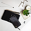 Matching Clutch & Purse Gift Set In Black Pony Hair Leather image