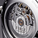 Firle Sennen Automatic In White & Silver With Smooth Navy Strap | Swiss Calibre: STP1-11 image