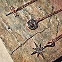 Diamond & Ruby Evil Eye Necklace Rosegold image