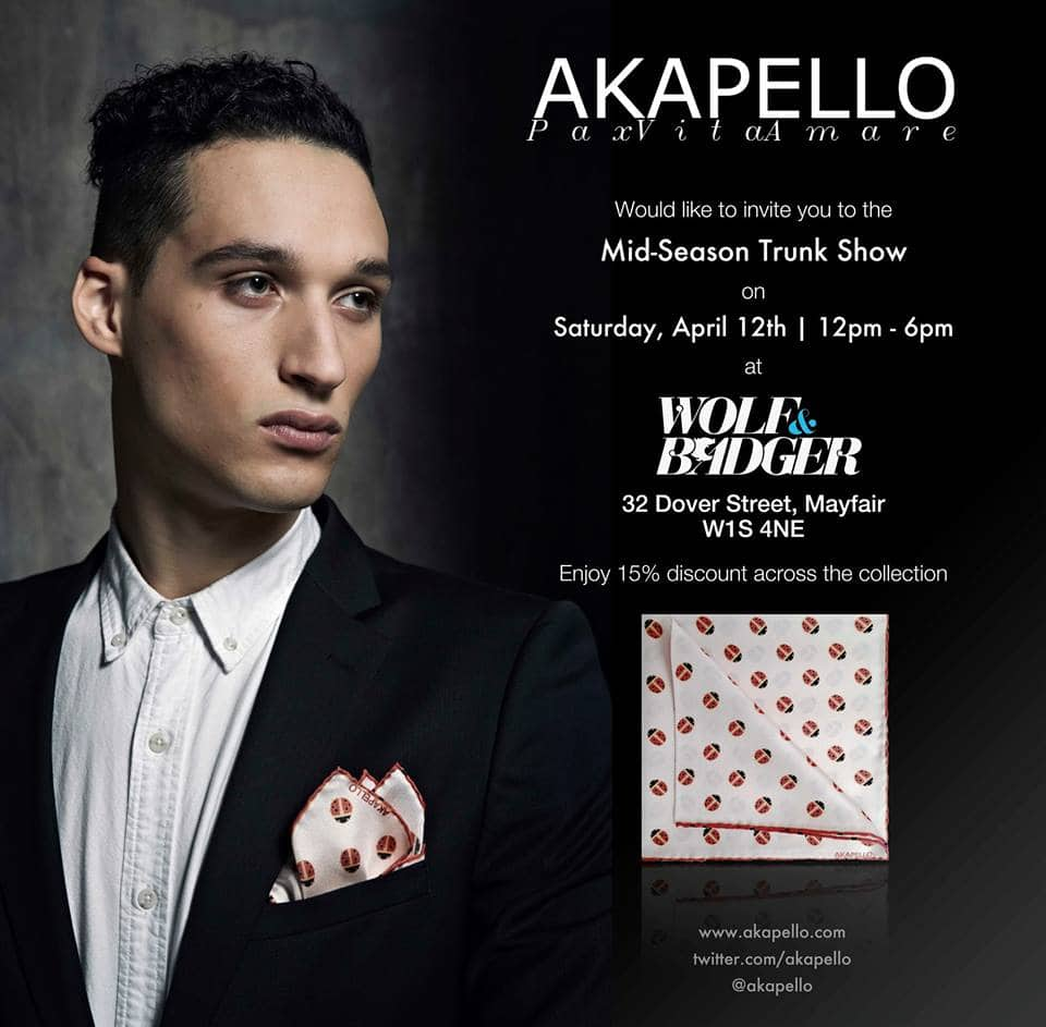 AKAPELLO Trunk Show Invite