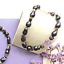 Nugget Deep Purple Baroque Pearls & Amethyst Necklace image