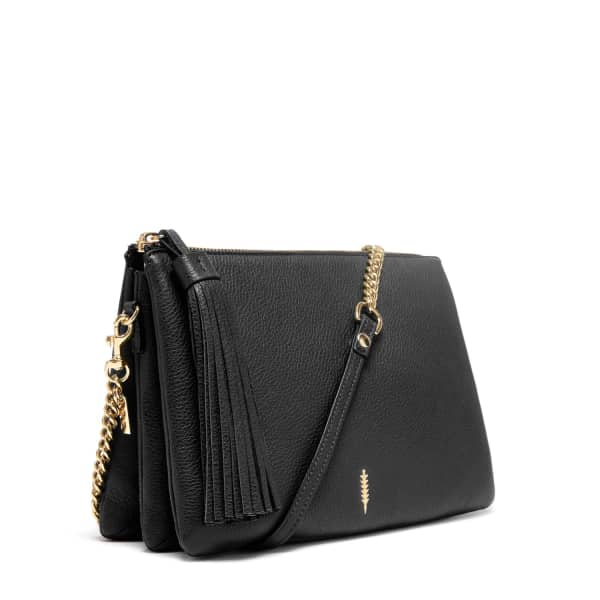 THACKER NEW YORK Ladybird Chain Clutch in Black and Gold