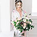 Peony Floral Print Kimono Robe image