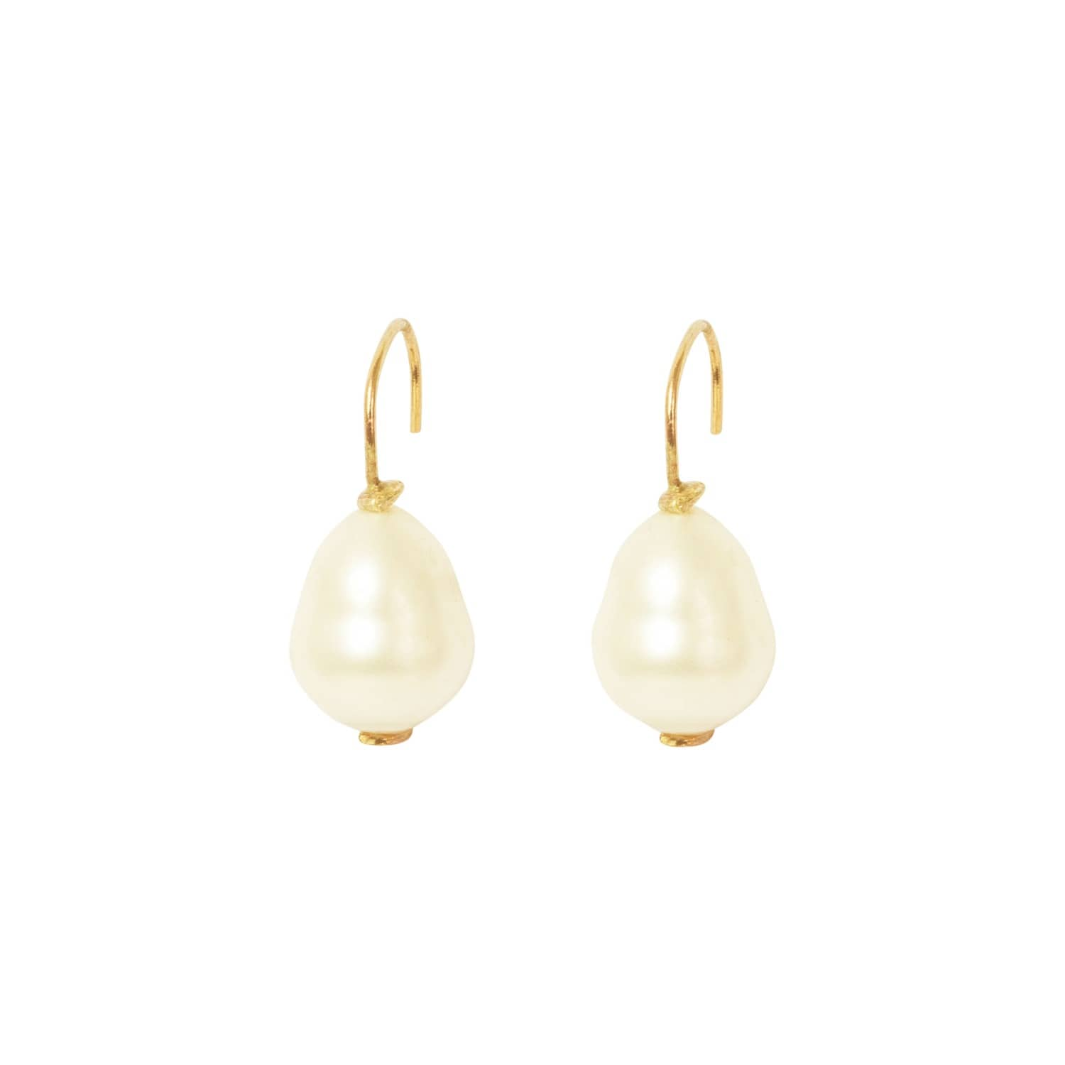 Reece White Teardrop Pearl Drop Earrings | Lily Flo Jewellery | Wolf ...