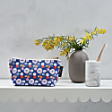 Midnight Poppy Cotton Cosmetic Bag - Blue image