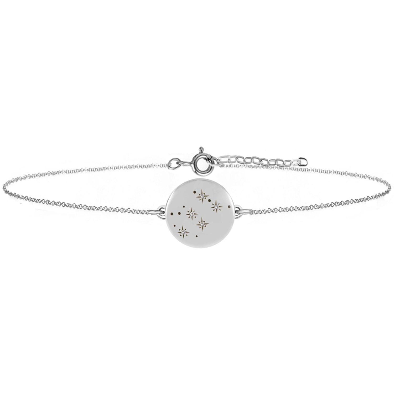 No 13 - Aquarius Zodiac Constellation Bracelet Diamonds & Silver