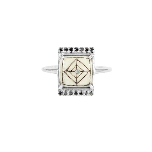 Sami Black Diamond Rectangle Ring