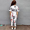 Sustainable Eco Dyed White Printed Jumpsuit image