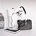 Lines Of A Woman Cotton Shopper Bag image