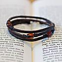 Trinity3 Bracelet - Brown Baltic Amber & American Bison image