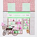 I Camisa Deli Risograph Print - Brown Green Pink & Purple) image