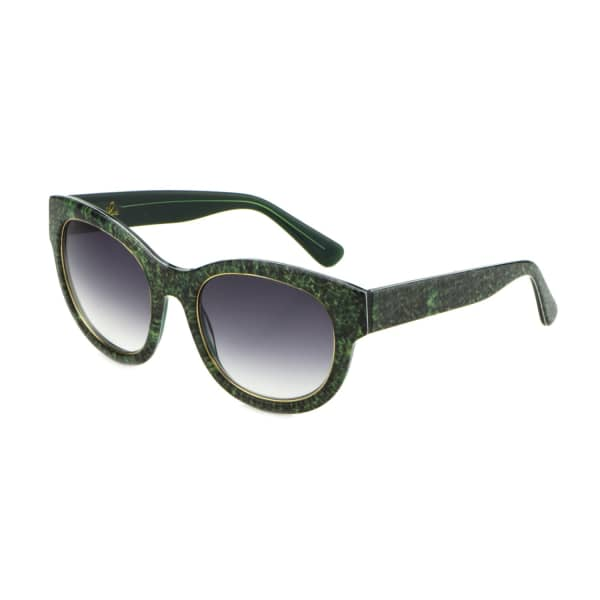 HEIDI LONDON Denim Print Square Frame Sunglasses Green