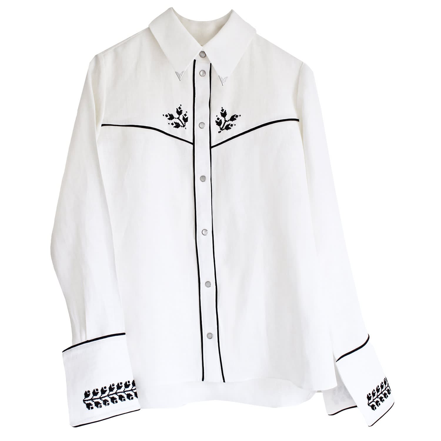 detailed look bd6fc b5df2 Embroidered Cowboy Shirt White by Florence Bridge
