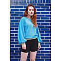 Puff Sleeve Raglan Sweatshirt image