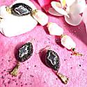 Freshwater Pearls With Rhinestones Bordered Pearls Bracelet & Earrings Gift Set image