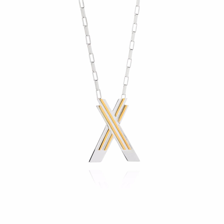 Saxony X Initial Necklace by Yasmin Everley Jewellery