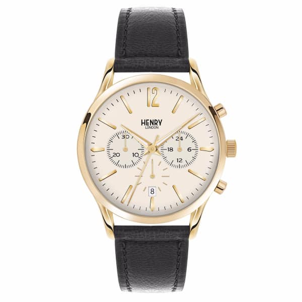HENRY LONDON Men'S 41Mm Westminster Chronograph Leather Watch