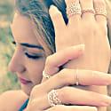 Mini Diamond Stacking Ring Silver image