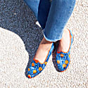Blue & Orange Printed Velvet Friulane image