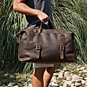 Large Leather Holdall In Vintage Brown image