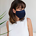 Silk Face Mask In Navy image