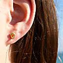 Tapered Loop Stud Earrings image