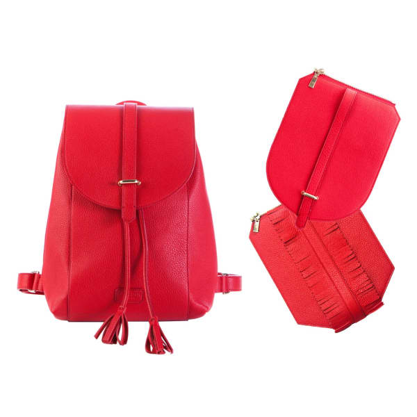 Cheryl Backpack In Classic City Red Leather