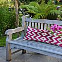Fabulous Pink Zig Zag Velvet Ikat Xl Cushion image