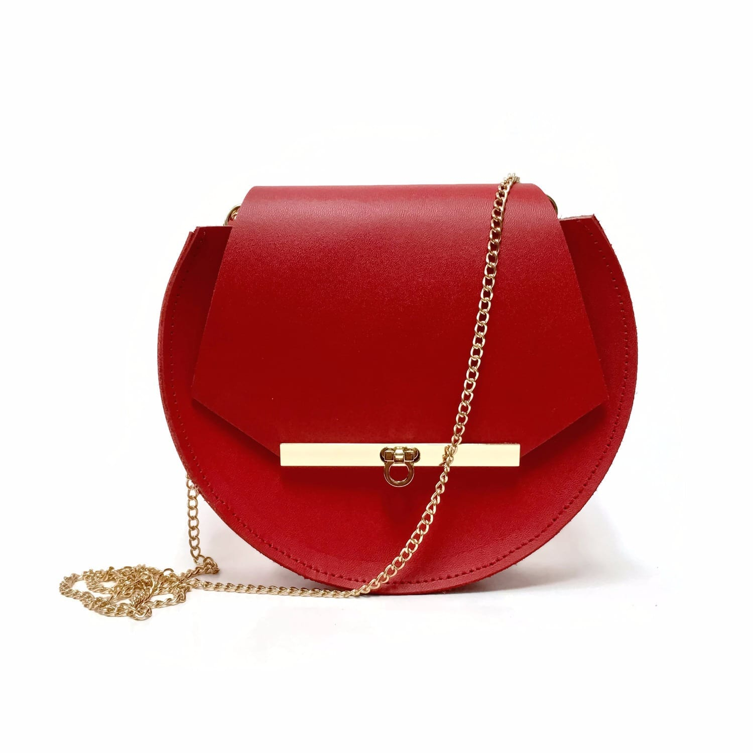 Loel Mini Military Bee Chain Bag Clutch In Poppy Red Image