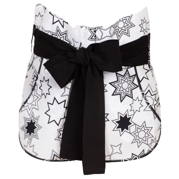 SIOBHAN MOLLOY Lottie White Star Print Shorts
