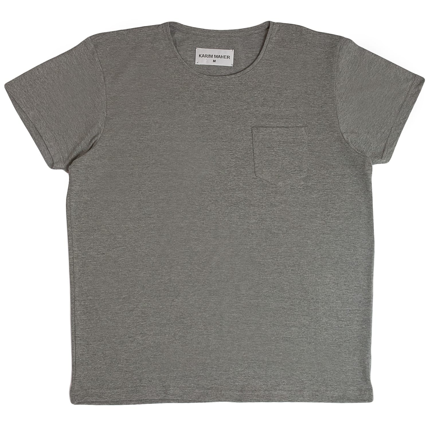 Grey Cotton Jersey Slim Fit T-Shirt image