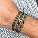 Set Of Two Handwoven Bracelets In Green Tones For Him image