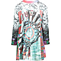 Splice Print Dress In Organic Cotton image