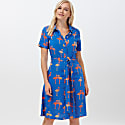 Abby Bermuda Flamingo Batik Shirt Dress image