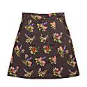 Bratislava Lame Flower Print Skirt image