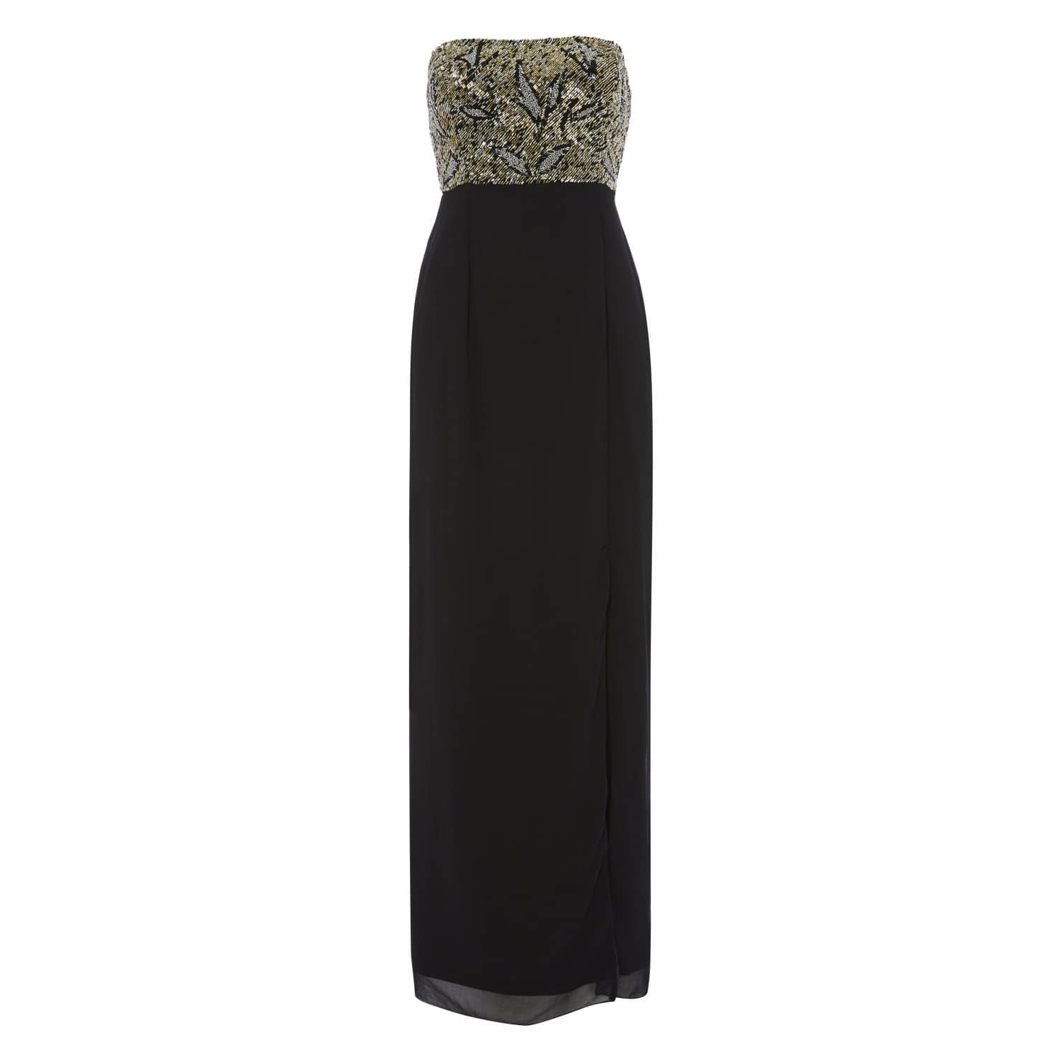 cf8ddf40dfe Black And Gold Bodice Maxi image