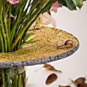 Pele High Vase - Volcanic Stone & Gold image