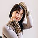 Elegant Fingerless Gloves Tweed-Moss image