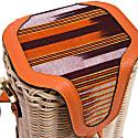 Parpali Orange Handmade Wicker Basket Shoulder Bag image